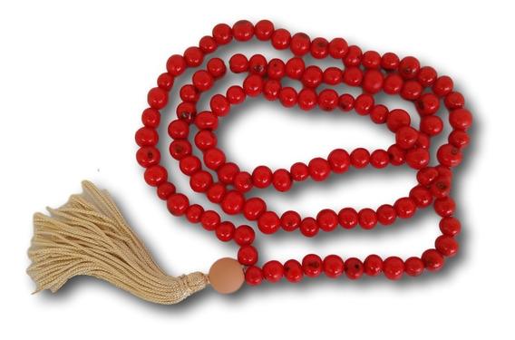Japamala Com Semente De Açaí Vermelho 108 Contas Ref: 7640