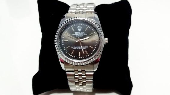 Relógio Feminino Date Just Prata E Preto