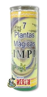 Poderosa Veladora - 7 Plantas Mágicas - Para Limpiar