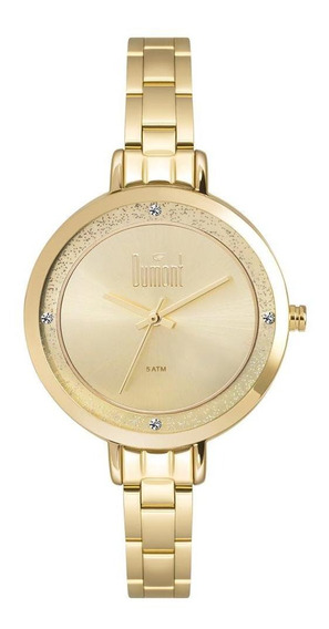 Relógio Unissex Dumont Elements Dourado - Original