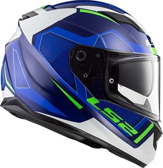 Casco Moto Ls2 320 Stream Evo Axis Azul Integral M Full Fas!