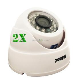 Kit C/ 02 Camera Segurança Digital Color Dome Ir20 Ir Cut