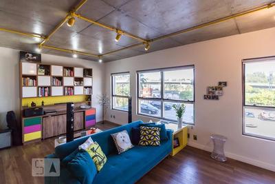 Apartamento No 1º Andar Mobiliado Com 1 Dormitório E 1 Garagem - Id: 892934841 - 234841