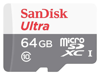 Cartao Memoria Micro Sd 64gb Sandisk Class10 Full Hd 80mb/s