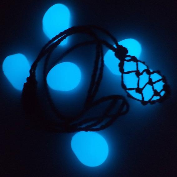 Colar Pedra Brilha No Escuro Atacado (1) Duzia
