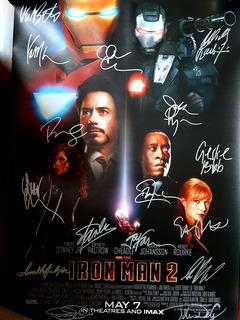 Ironman 2 Autografado Todo Elenco (ñ Sideshow Iron Studios)