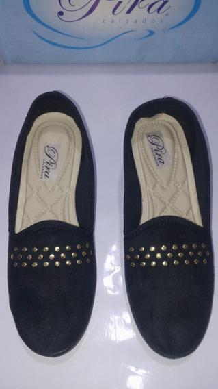 Zapatos Chatitas Alpargatas Gamuza Con Tachas Divinos !!