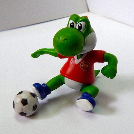 Mario Bros Figura Gashapon Yoshi Barriendo Manchester United