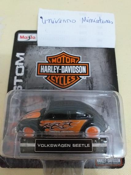 Miniatura Fusca Harley Davidson