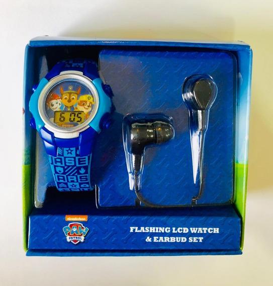 Reloj Paw Patrol Original Caja Y Audifonos Incluidos