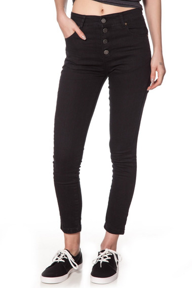 Jean Volcom Mujer Button Hi Rise
