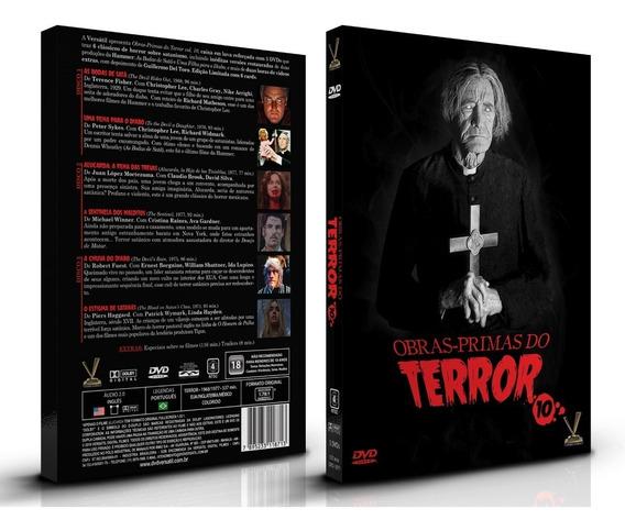 Dvd Obras-primas Do Terror Vol 10 - 3 Discos 6 Filmes