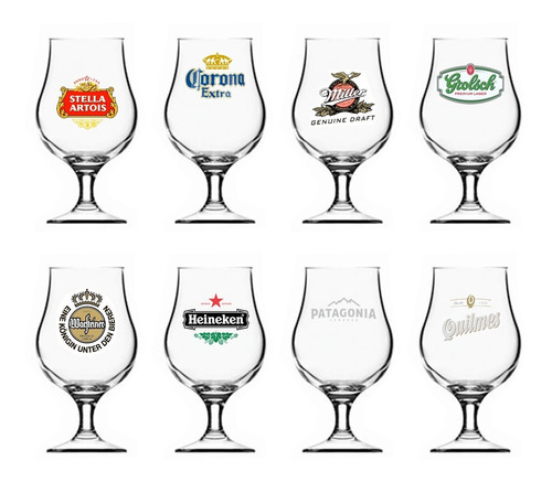 Copa Vidrio Dublin Cerveza Logos 400 Ml X 6 Pettish Online
