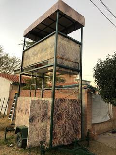 Espiadero (blind) Para Cacería Remolque Elevable Electrico