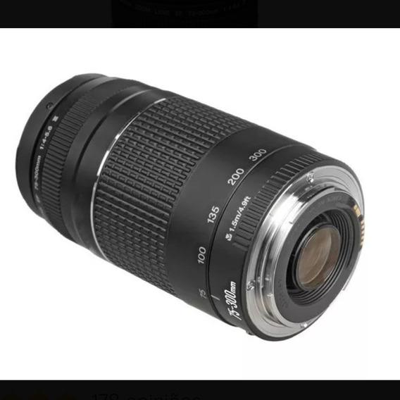 Lente Canon 75-300 Perfeito Estado É Pegar E Usar