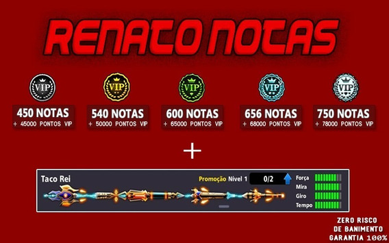 Taco Rei + Notas 8 Ball Pool