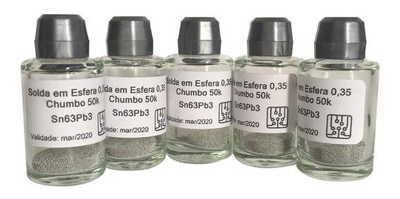 Esferas Bga Reballing Com Chumbo 0,35mm Com 50.000