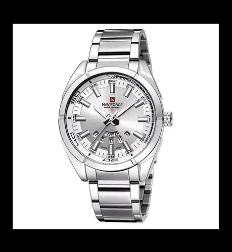 Relógio Original Naviforce Aço Inoxidável Analógico Com Cale
