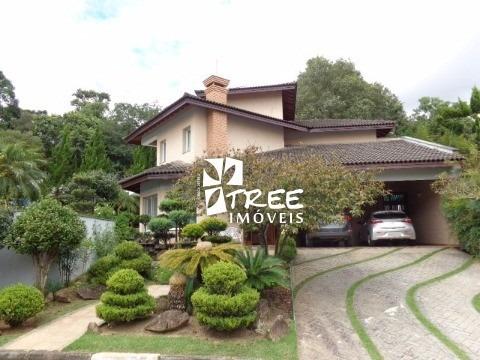 Vende - Casa -  Condomínio Arujázinho 5  - At: 600 M² Ac: 320 M² Distribuídos Em  4 Dormitórios Sendo 1 Suite  Sacada Lateral C - Ca01255 - 4448132