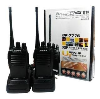 Kit 2 Rádio Comunicador Walk Talk Baofeng 777s Fones Carrega