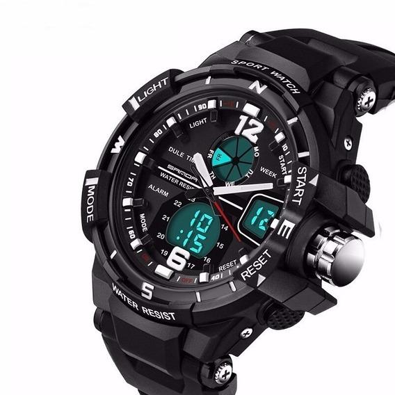 Relógio Sanda 289 Digital/analógico Esportivo Original Lindo