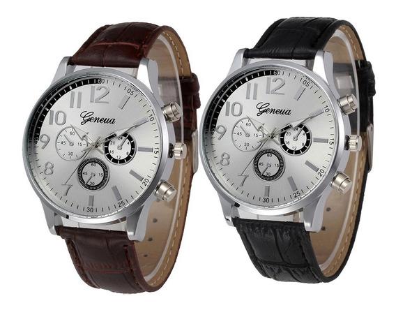 Relógio Masculino Genova 2020 Quartz Analógico Imponente