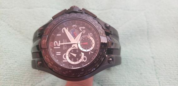 Relógio Orient Flytech Preto Titanium Mptpc001 Cronografo