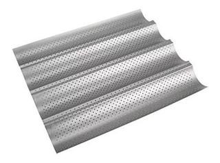 Molde Perforado Para 4 Baguette 38x32x2 Cm