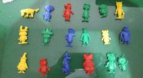 Kit 18 Miniaturas Bonecos Hanna Barbera Colecionáveis