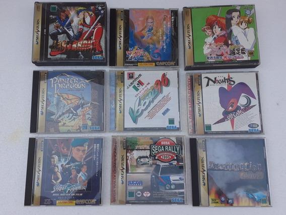 Lote De Jogos Originais Sega Saturno Frete Gratis 12x Sem Ju