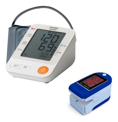 Kit Tensiómetro Digital + Oxímetro Maverick 1 Año Garantía