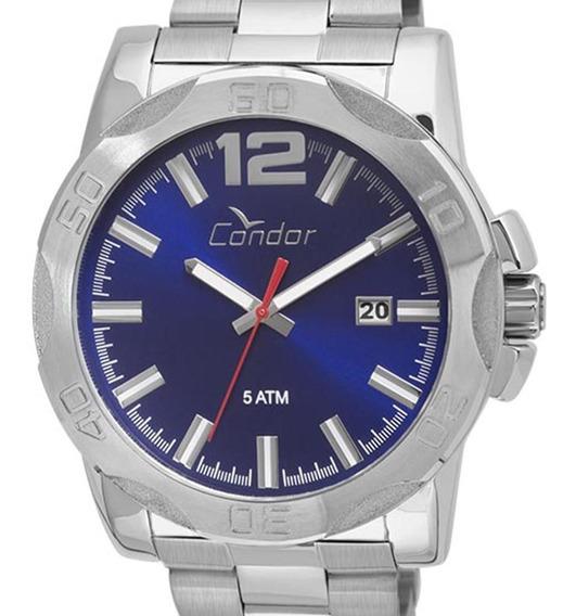 Relógio Condor Masculino Prata Co2415bg/3a Original + Nota