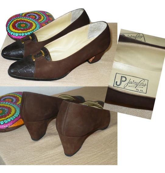 Zapatos De Vestir Gamuza Y Cuero Mujer Excelentes!