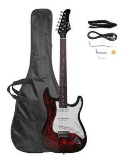 Red - Nueva Glarry 4 Color Tilo 22 Trastes Guitarra Elé-5213