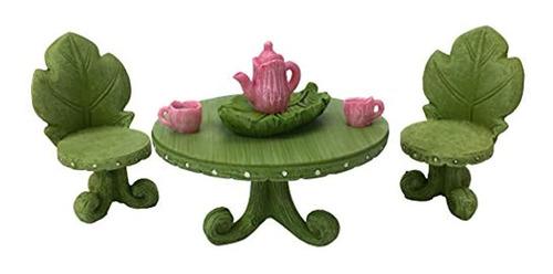 Imagen 1 de 5 de Conjunto De Muebles De Jardin De Hadas En Miniatura Conjunt