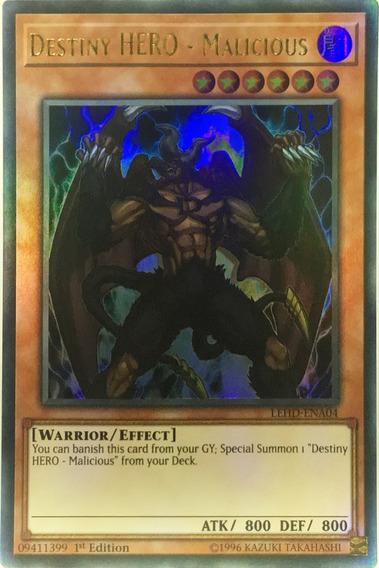 Destiny Hero - Malicious - Ultra Rare - Miltienda - Yugioh