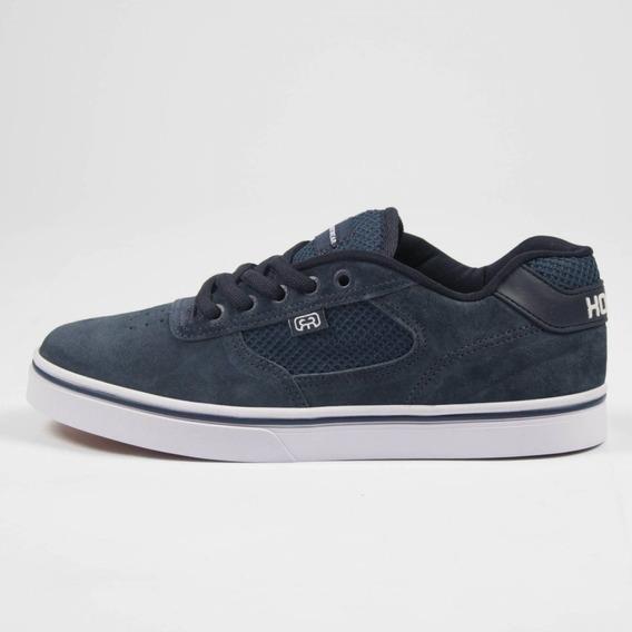 Tênis Skate Hocks Flat Lite Azul Marinho Camurça Original