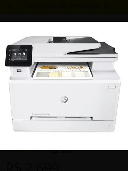 Impressora Hp Mfp M281fdw Laser Jat Color 4 Em 1 Com Wi- Fi
