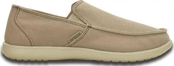 Crocs Santa Cruz Clean Cut Loafer Khaki Hombre Dxt Envíos