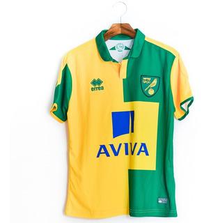 Camisa De Futebol Masculino Norwich 2015/16 Home Errea