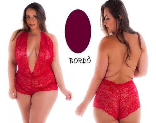 Body Plus Size Lingerie Sensual Presente Dia Dos Namorados
