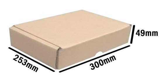 Caixa Papelão Pacote P/correio 30 X 25 X 4,9 Cm 50 Unidades