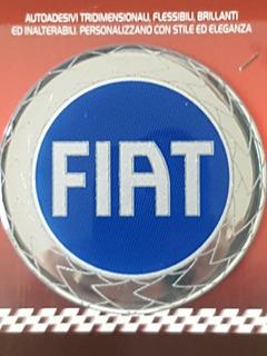 Emblema Fiat Autoadesiva Calcomania Tridimensional Italiana