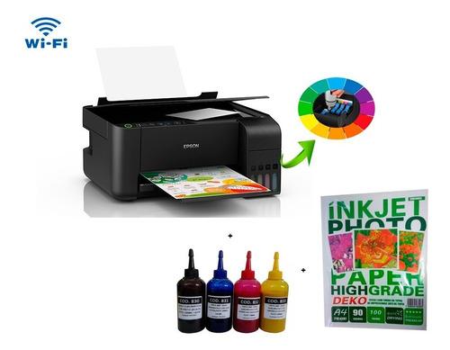 Impressora Multifuncional Sublimatica L3150 + Tintas + Papel