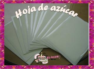24+1 Gratis Hojas De Azucar Fondant Obleas Tamaño Carta