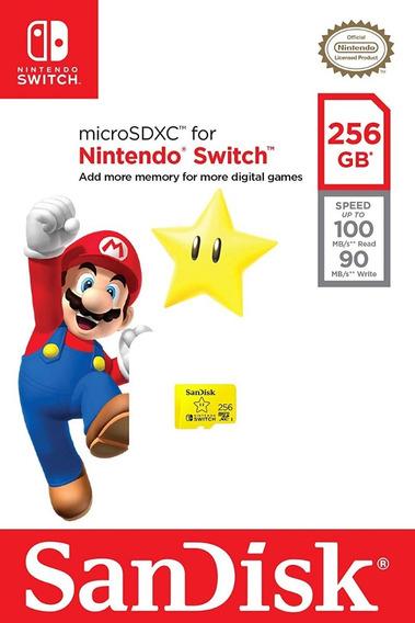 Cartão De Memória Sandisk Switch 256gb Realmente Original