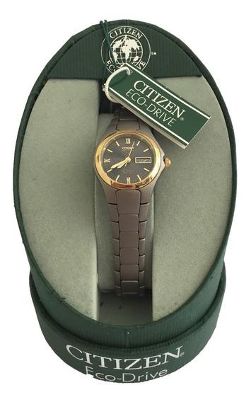 Reloj Citizen Eco Drive Titanium Para Mujer Ew3064-58e