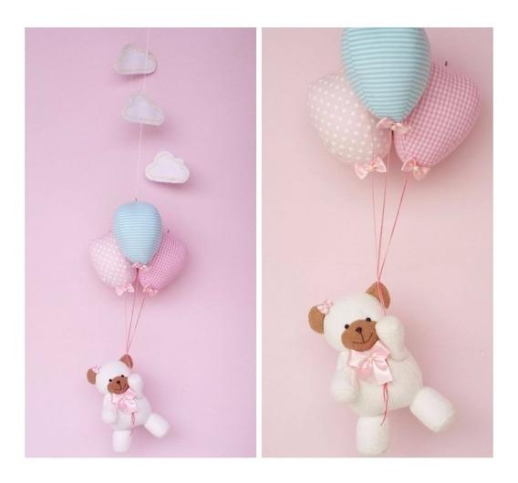 Móbile De Teto Ursinha / Ursinho Com Balões
