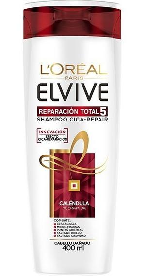 Shampoo Cica-repair Reparación Total 5 Elvive Loreal 400ml