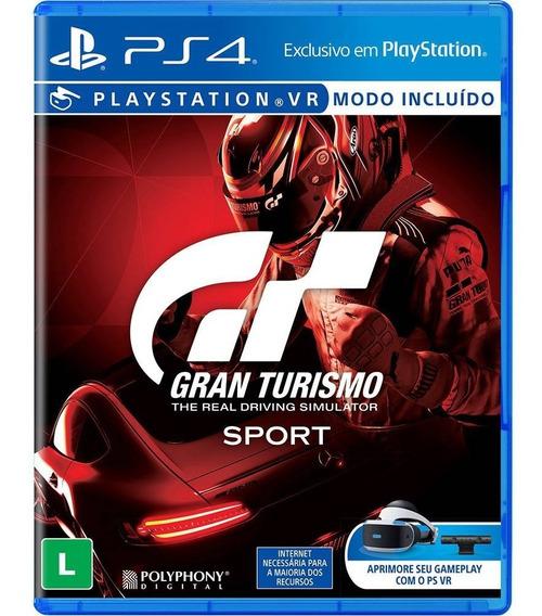 Jogo Gran Turismo Sport Ps4 Disco Fisico Lacrado Português